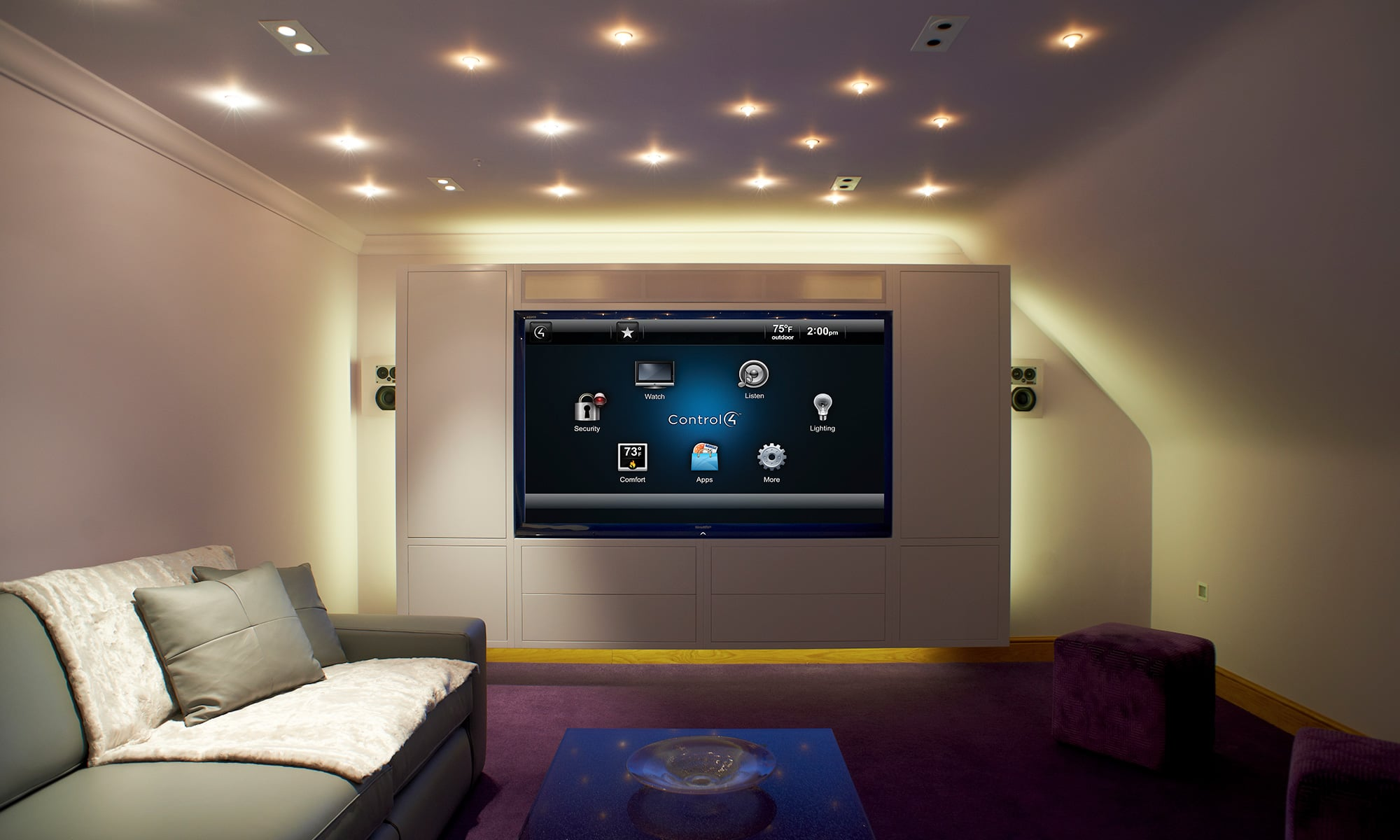 Control-4 AV Design & Integration Turns Living Rooms into Luxury Home Theatres