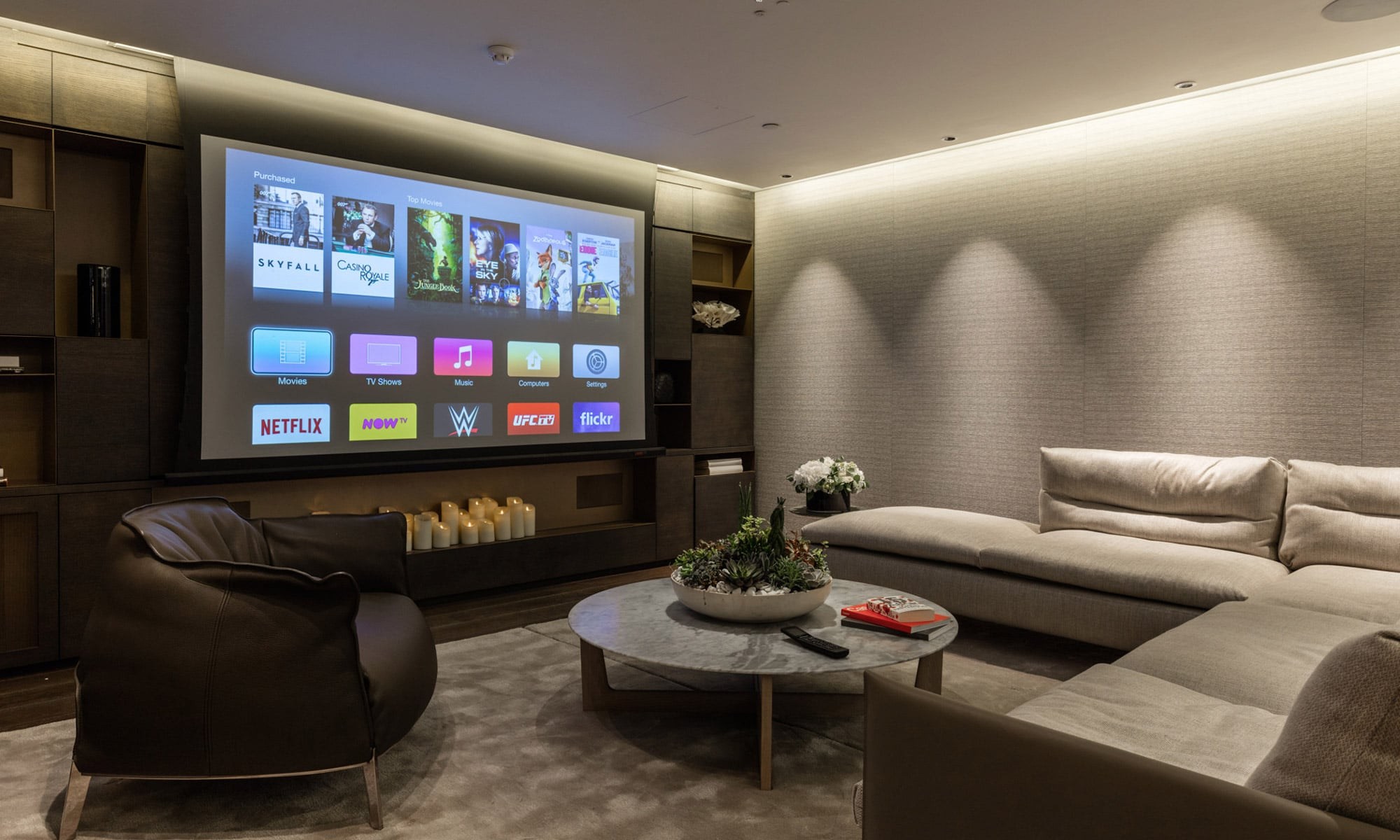 Crestron-Smart-Home-Showroom AV Design & Integration Turns Living Rooms into Luxury Home Theatres