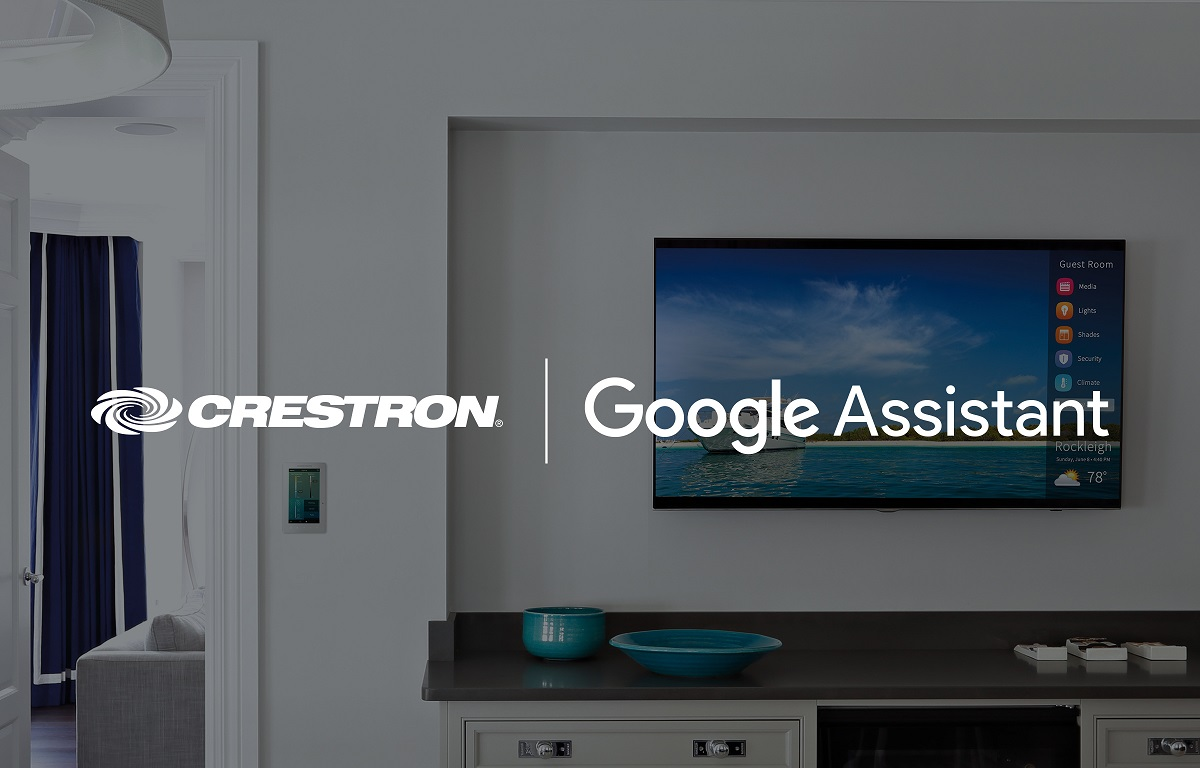 Crestron-partners-with-Google-Assistant- Crestron Home Automation Trends 2018