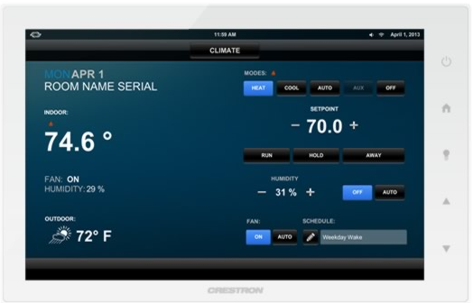 Smart-thermostats-from-Crestron 5 Home Automation Tools That Immediately Add Value to Your Property